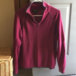 Eddie Bauer zip neck sweater